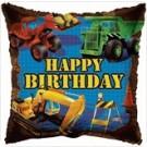 "18"" Happy Birthday White Star Foil Balloon"