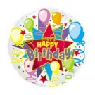 "18"" Happy Birthday Starburst Foil Balloon"