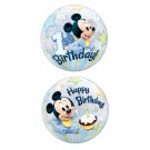 22in BUBBLES Mickey 1st Birthday Balloon