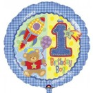 18in Boy hug n stitch 1st Birthday Balloon