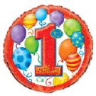 18in Red balloon 1st Birthday Foil Balloon