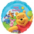 18in Pooh & Friends Sunny Birthday Foil Balloon