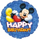 "18"" Mickey Happy Birthday Foil Balloon"