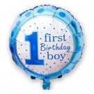 "18"" First Birthday Boy Foil Balloon"