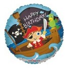 "18"" Happy Birthday Pirate Boy Foil Balloon"
