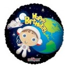 "18"" Happy Birthday Astronaut Boy Foil Balloon"