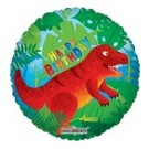 18in Dinosaurs Happy Birthday Foil Balloon