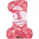"28"" First Birthday Princess SuperShape Balloon"