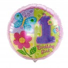 18in Girl hug n stitch 1st Birthday Balloon