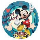 28in Sing-A-Tune Mickey Mouse Clubhouse Happy Birthday Balloon
