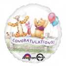 17in Winnie the Pooh Congratulations Foil Balloon