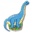 28in Blue Dinosaurs Balloon