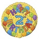 18in 2nd Birthday Foil Balloon