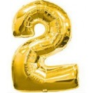 "30"" Gold Number 2 Balloon"