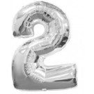 "30"" Silver Number 2 Balloon"