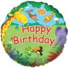 "18"" Junggle Buddies Happy Birthday Foil Balloon"