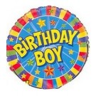 "18"" Birthday Boy Mylar Foil Balloon"