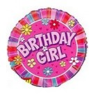 "18"" Birthday Girl Daisies Mylar Foil Balloon"