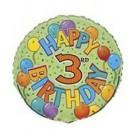 18in Happy 3rd Birthday Foil Balloon