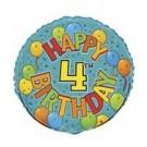 18in Happy 4th Birthday Foil Balloon