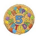 18in Happy 5th Birthday Foil Balloon