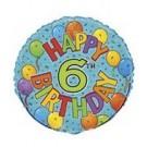 18in Happy 6th Birthday Foil Balloon