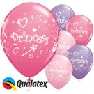 "11"" Qualatex Princess Printed All Round Assortment"