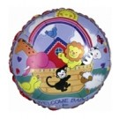 "18"" Noah's Ark Welcome Baby Foil Balloon"