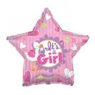 "18"" It's A Girl Stork Star Balloon"