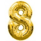 "40"" Gold Number 8 Foil Balloon"
