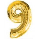 "40"" Gold Number 9 Foil Balloon"