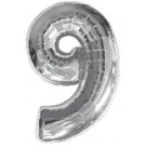 "40"" Silver Number 9 Foil Balloon"