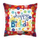 "9"" Airfill HBD Swirls Foil Balloon"