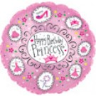 "9"" Birthday Princess Air Fill Balloon"