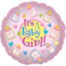 """9"""" Airfill Baby Girl Bottles Balloon"""