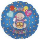 "9"" Happy 1st Birthday Air Fill Balloon"