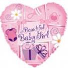 "9"" Airfill Beautiful Baby Girl Balloon"