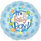 "9"" Airfill Baby Boy Footsies Balloon"