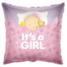 "18"" It's a Girl Square Balloon"