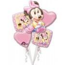 Baby Minnie 1st Birthday Balloon Bouquet