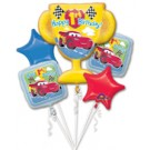 Disney Cars 1st Birthday Balloon Bouquet