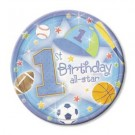 "1st Birthday All Star 7"" Plates"