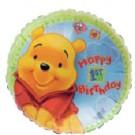 "18"" Winnie the Pooh Happy 1st Birthday"