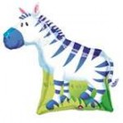"27"" Jungle Party Zebra SuperShape Foil Balloon"