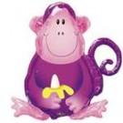 "27"" Jungle Party Monkey SuperShape Foil Balloon"