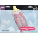 SuperShape It's a Baby Girl Milk Bottle Foil Balloon
