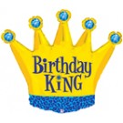 Birthday King Crown Balloon