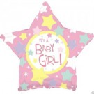 "18"" It's a Girl Star Balloon"