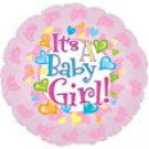 "18"" It's a Baby Girl Feet Balloon"
