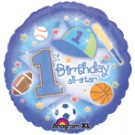 "18"" First Birthday All-Star Balloon"
